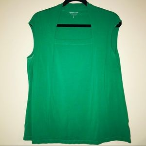 Coldwater Creek Kelly Green Top ~ PB5